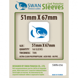 Sleeves 51mm x 67mm (thin)