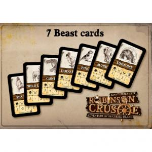 Robinson Crusoe: Adventure on the Cursed Island (1st Edition) - Beast Cards